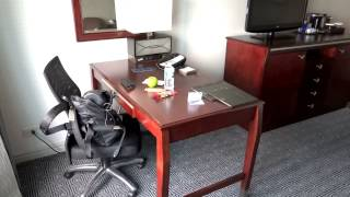 Hilton Hotel JFK Airport New York . Room 1233 video tour