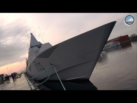 Swedish Navy Karlskrona Naval Base, Koster-class MCMV & Visby-class Corvette