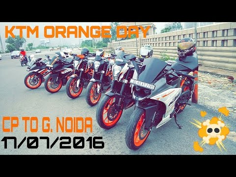 VLOG#1 | KTM ORANGE DAY | BREAKFAST RIDE | CP TO GREATER NOIDA