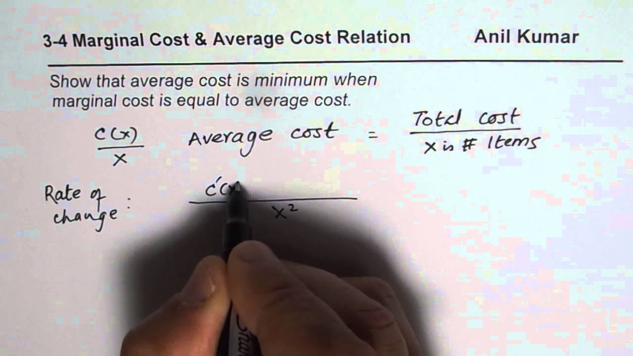 marginal cost is equal to average total cost when