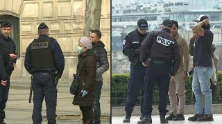 Coronavirus: French police perform ID checks as France enters lockdown