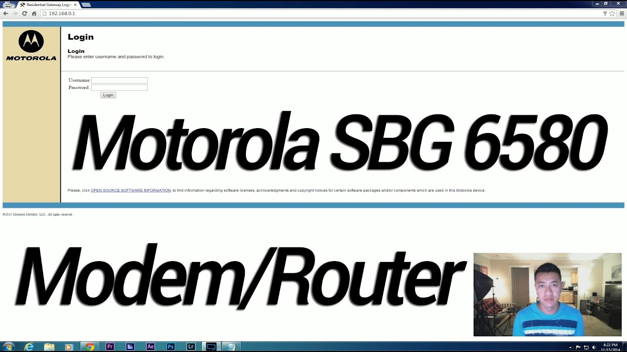 motorola surfboard sbg6580 log in