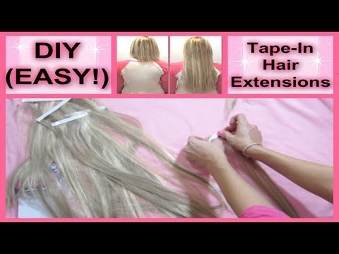 52 weeks of beauty 2013 week 7 diy how to make and install 52 weeks of beauty 2013 week 7 diy how to make and install tape in hair extensions at home youtube pmusecretfo Image collections