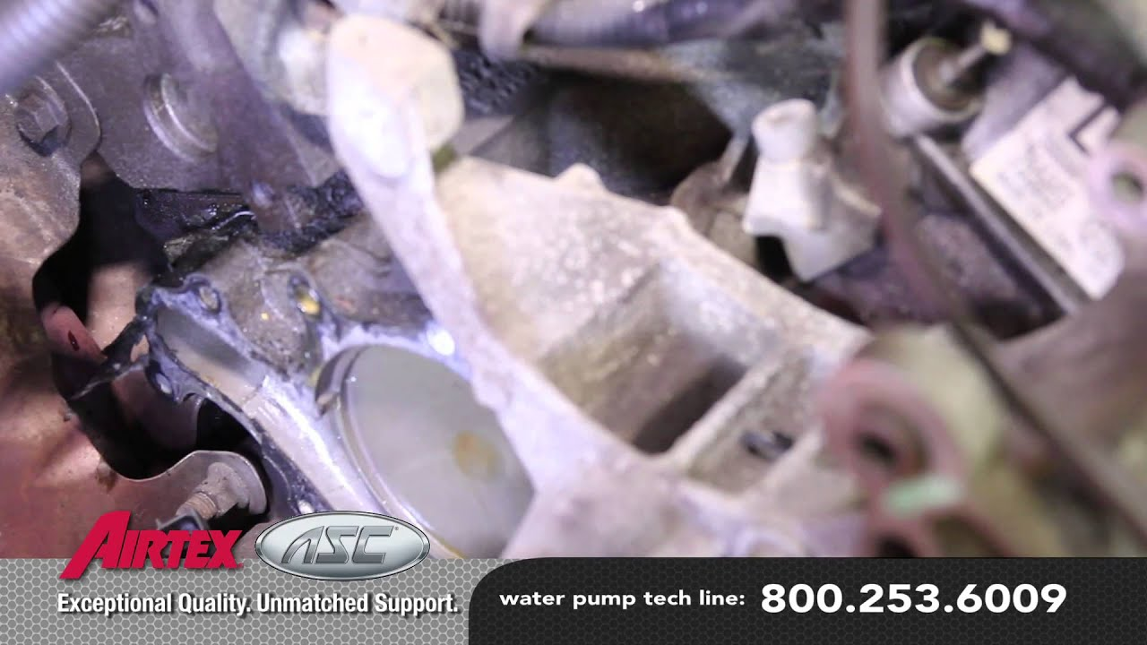 How To Install A Water Pump Ford 30l V6 Fwd Wp 9038 Aw4094 Youtube 2000 Mercury Sable Dohc Engine Internal Diagram