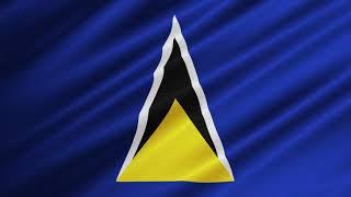 Flag Of Saint Lucia Waving [FREE USE]
