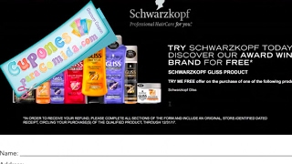 Super **REBATE** por comprar un Schwarzkopf Gliss Shampoo, Conditioner or Treatment