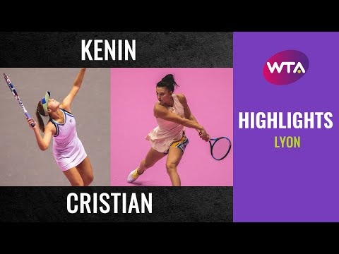 Sofia Kenin vs. Jaqueline Cristian | 2020 Lyon Second Round | WTA Highlights