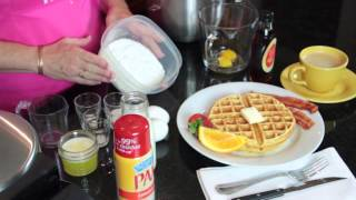 How To Make Old-fashioned, Homemade Waffles : Easy Southern Cooking