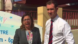 Visit to Little Academy Early Learning Centre - with Sam Crosby for Reid - 19 April 2018