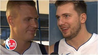 Kristaps Porzingis wanted to come back early to play with Luka Doncic | 2019 NBA Media Day