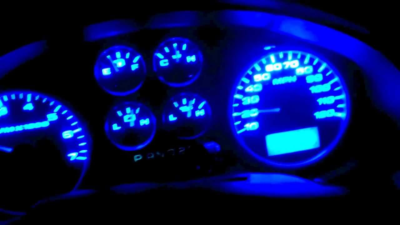 Ford F150 Instrument Cluster Blue Led Conversion Youtube