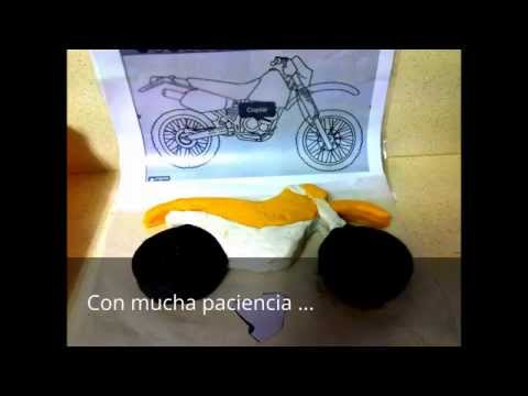 how to make a motorbike out of icing