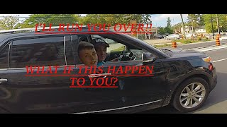 DRIVER THREATEN TO RUN OVER MOTORCYCLE!! Road rage motorcycle vs car