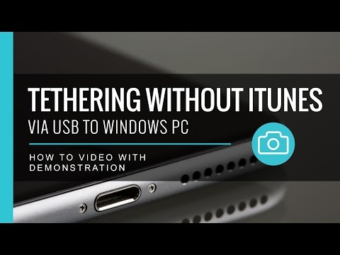Tethering Without ITunes - Via USB To Windows