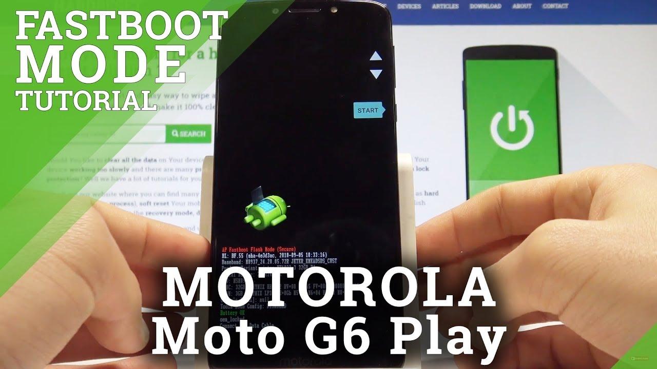 Fastboot Mode MOTOROLA Moto G6 - HardReset info