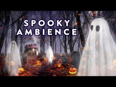 Spooky Halloween Ambience - Haunted Forest Graveyard Sounds