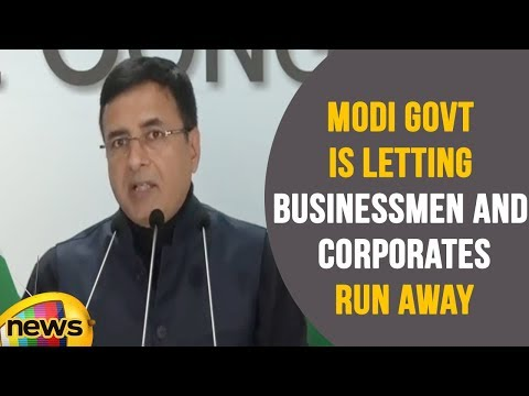 Modi Government Is letting Businessmen and Corporates Run Away With Public Money , Says Congress