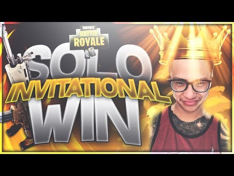FORTNITE INVITATIONAL WIN! CRAZY COMPETITIVE GAME!