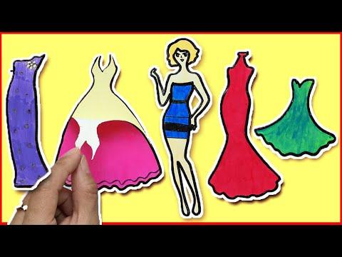 Sticker dán hình váy đầm dạ hội công chúa búp bê tự làm đơn giản - Sticker doll (Chim Xinh)