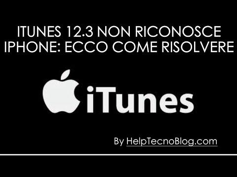 iTunes 12.3 non riconosce iPhone su Windows 10 - Come risolvere