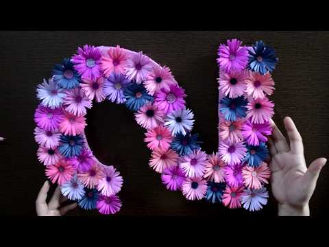Simple DIY Floral Number for Birthday Decoration at Home