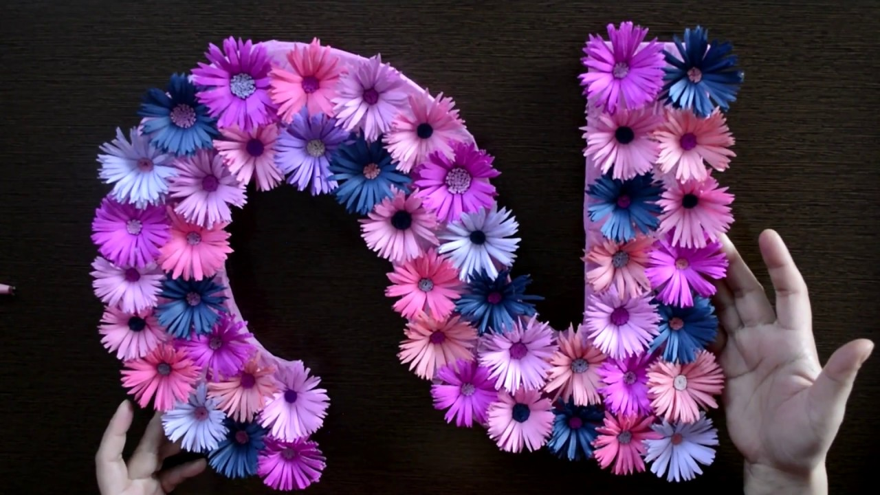 Simple DIY Floral Number for Birthday Decoration at Home ...