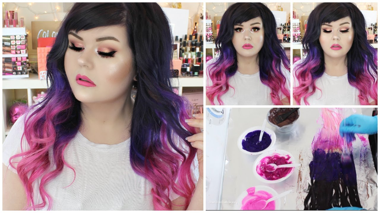 How I Dyed My Hair Extensions Purple To Pink Ombre Vp Fashion