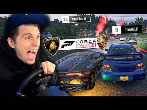 Erstes Straßenrennen gegen Porsche & Lamborghini! | Forza Horizon 4