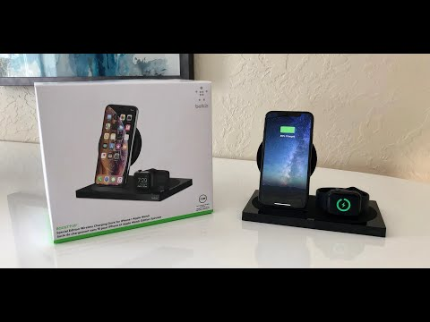 Belkin - Boost Up Wireless Charging Dock For IPhone And Apple Watch Unboxing