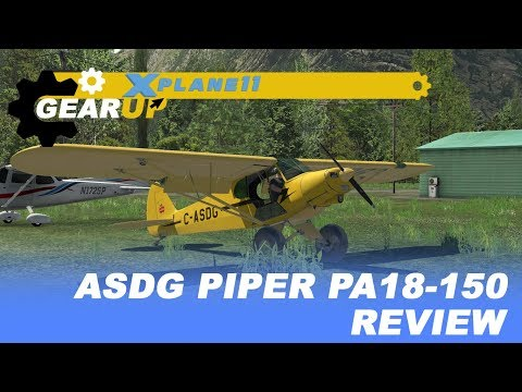 X-Plane 11 | Super Cub | ASDG Piper PA18 | Review | En español