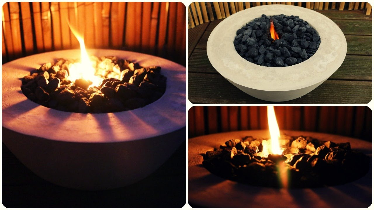 feuerschale beton diy concrete fire bowl eng sub. Black Bedroom Furniture Sets. Home Design Ideas