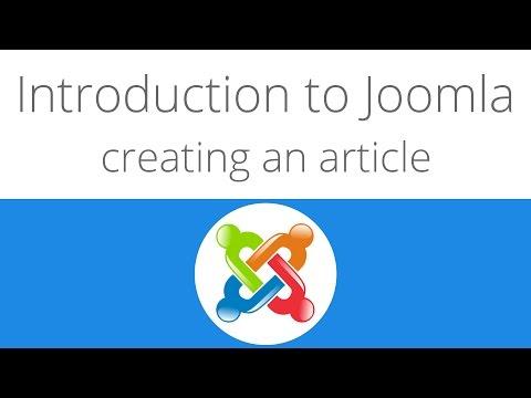 Joomla For Beginners Tutorial 3 - Creating An Article