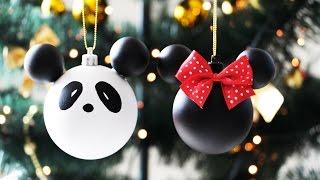 DIY Especial de Natal 🐼⛄🎅 Panda + Minie + Boneco de neve
