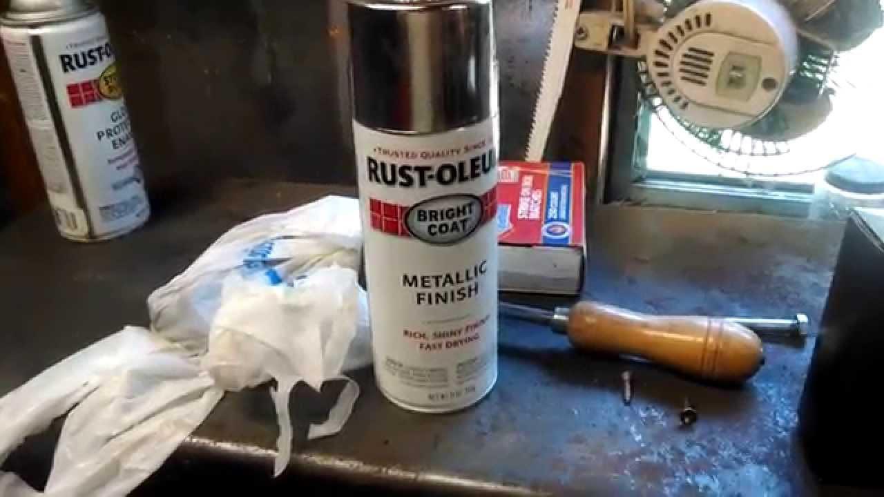 restoleum chrome spray paint review youtube. Black Bedroom Furniture Sets. Home Design Ideas
