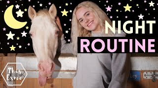 Night Routine of an Equestrian 2020 | This Esme