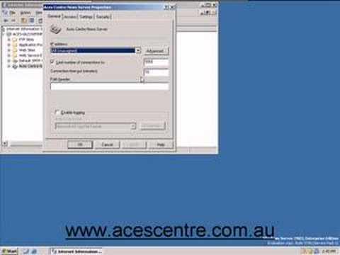 NNTP Server Setup www.acescentre.com.au