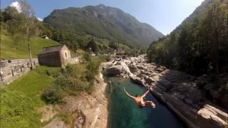 cliff and bridge diving in lavertezzo swiss 5m 8m e 14m