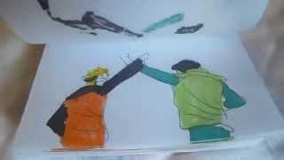 naruto shippuden flipbook animation part 2 Rock lee Naruto Taijutsu
