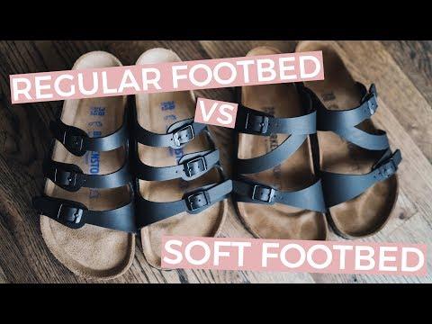 Birkenstock Soft Footbed Vs Regular Footbed   'Salina' Vs 'Florida'