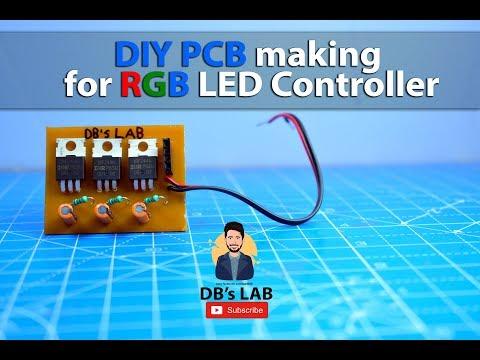 DIY PCB making for RGB LED Controller