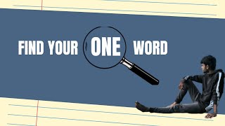 Find Your One Word