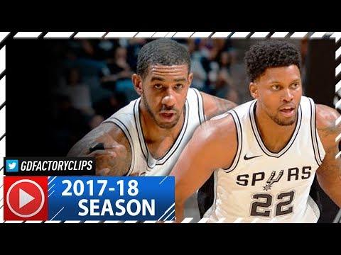 LaMarcus Aldridge & Rudy Gay Full Highlights vs Clippers (2017.11.07) - TOO GOOD!