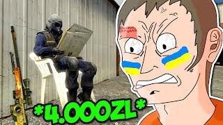 UKRAINIEC CHCIAŁ MI UKRAŚĆ DRAGON LORE - CS:GO FUNNY MOMENTS