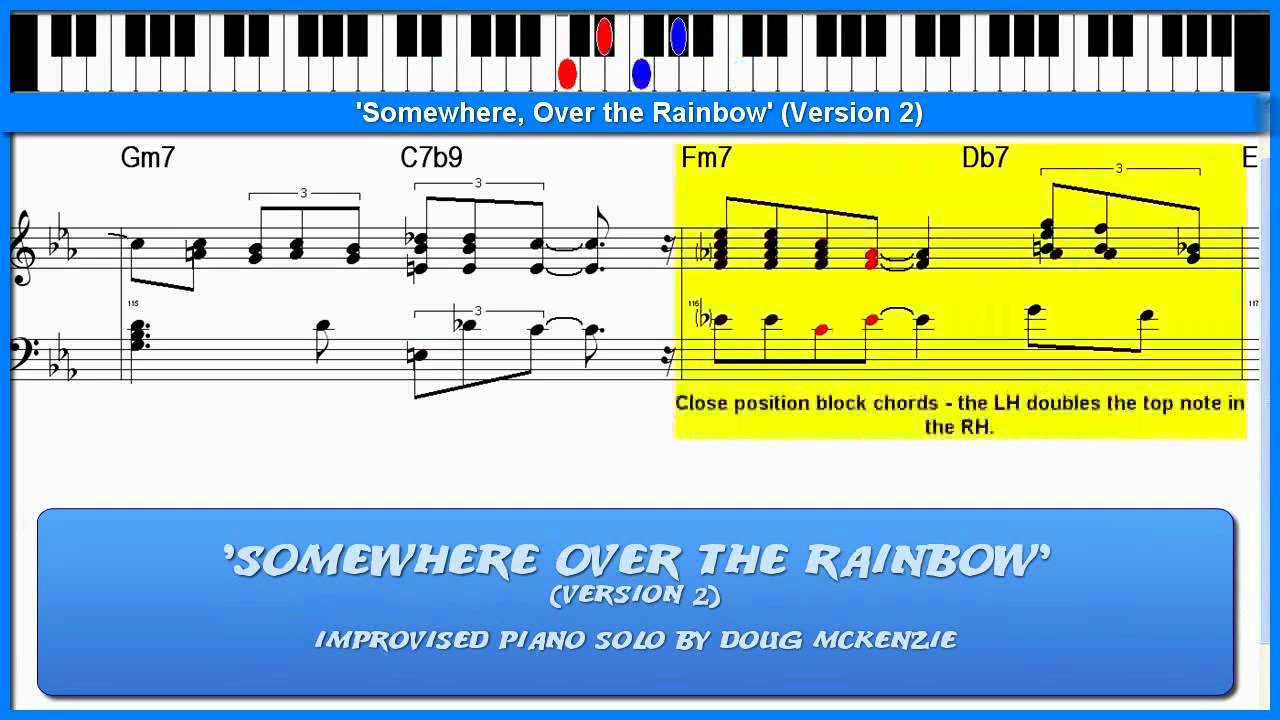 Somewhere over the rainbow version 2 jazz piano tutorial somewhere over the rainbow version 2 jazz piano tutorial youtube hexwebz Gallery