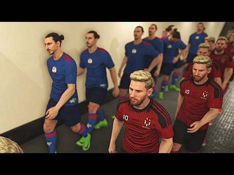 PES 2017 - Team Messi Vs Team Ibrahimovic - PS4 Gameplay HD