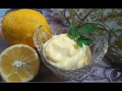 Домашний Майонез с Лимонным Соком/ Как Приготовить Майонез с Лимоном
