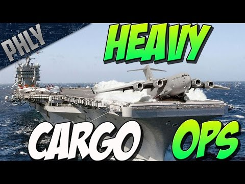 HEAVY CARGO OPS - C-17 Vs Aircraft Carrier (Arma 3 Gameplay)