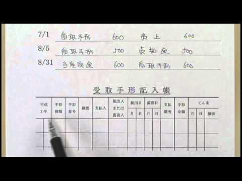 簿記3級 b3_0514受取手形記入帳・支払手形記入帳