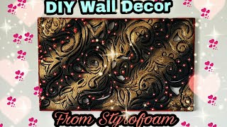 Diy Wall Decor Idea: Room Decor Idea: Out Of Styrofoam: