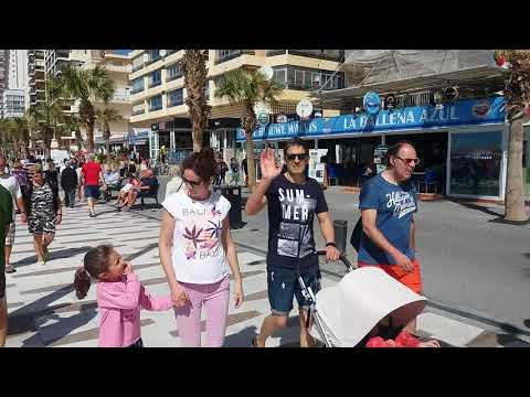 Benidorm Levante beach. Friday 30 March 2018. Part 1.